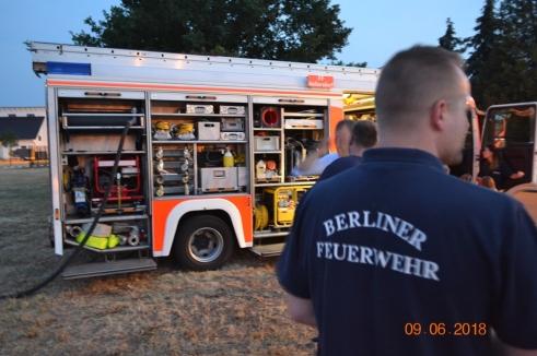 Freiwillige Feuerwehr Hellersdorf war auch zu Gast Vielen Dank